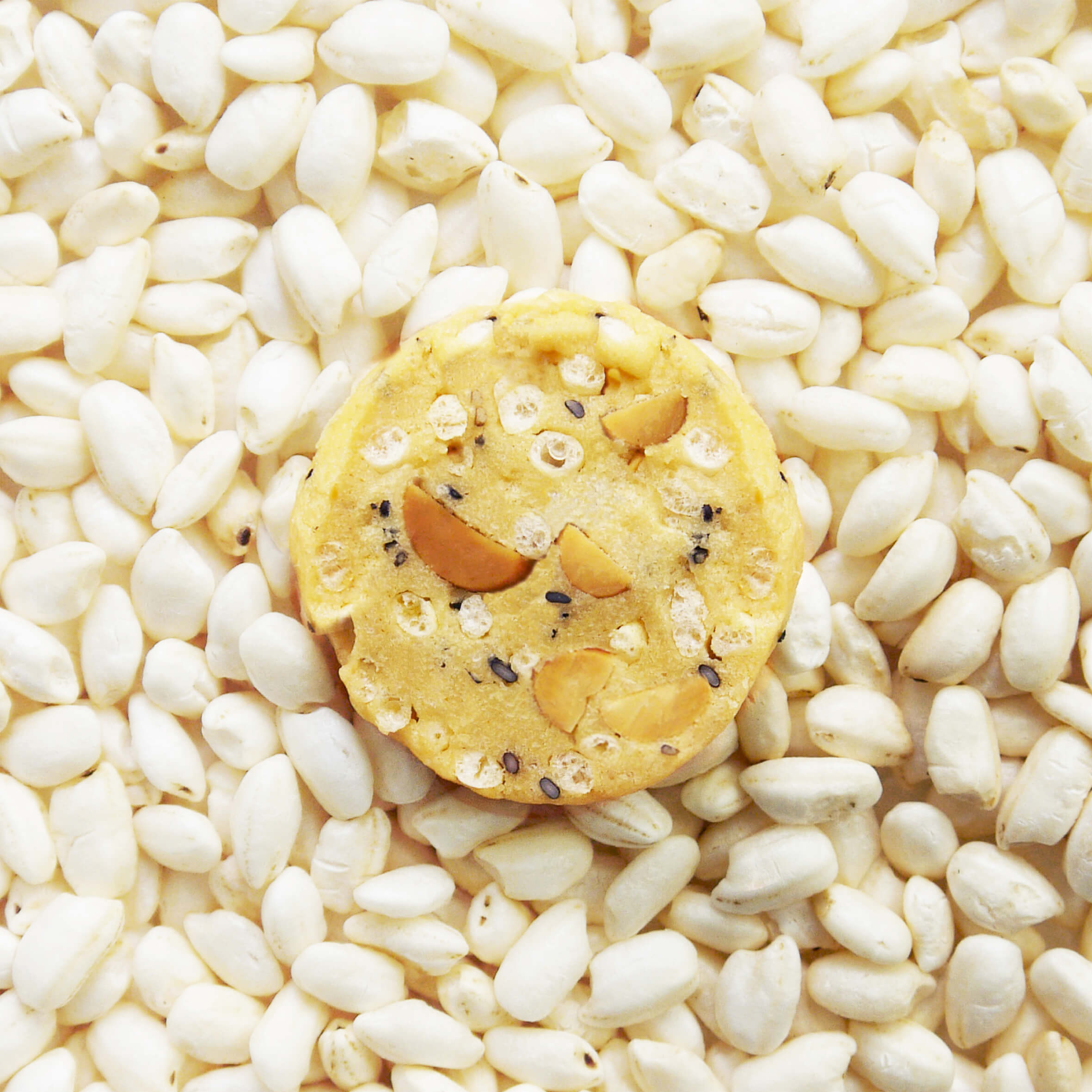Puffed rice cookie